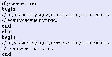 Оператор if Delphi