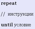 Цикл repeat Delphi