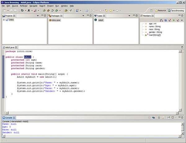 Ваш первый Java-объект